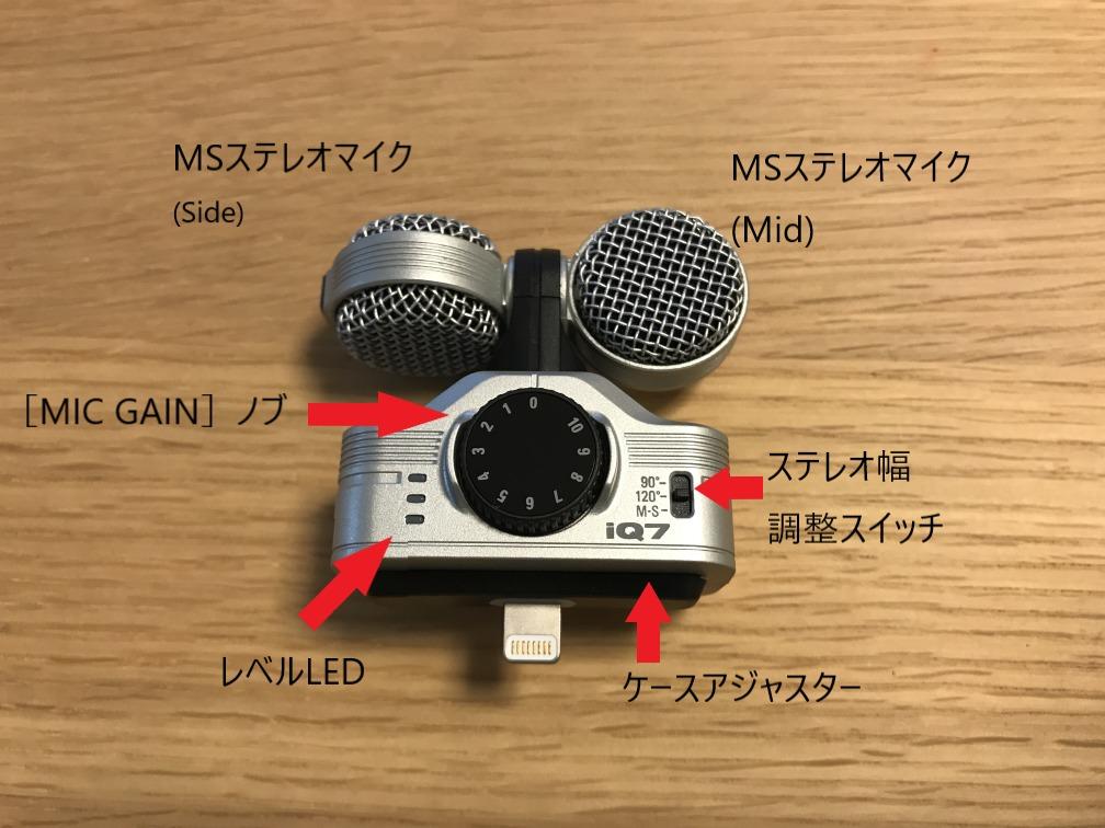 iQ7 ステレオマイク