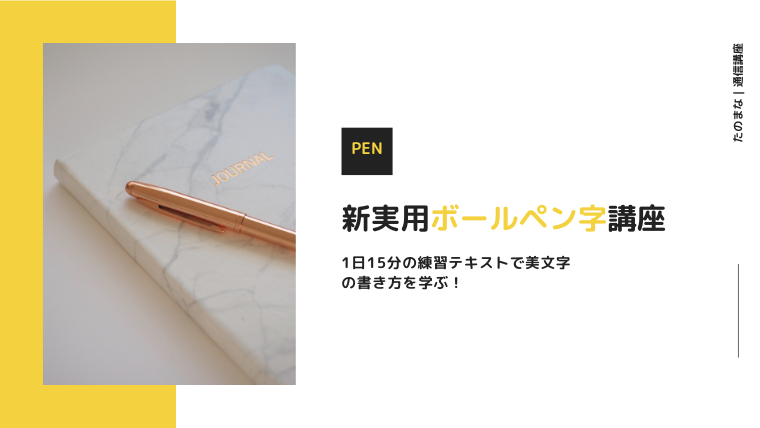新・実用ボールペン字講座